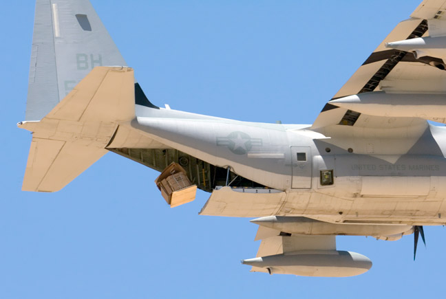 USMC C-130 PCADS air drop